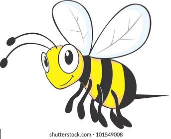 Flying Bee Cartoon