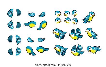 Flying Bird animation frames