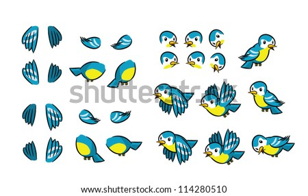 Flying Bird Animation Frames Stock Vector (Royalty Free) 114280510 ...