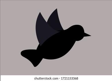 flying bird design vector illustration bird