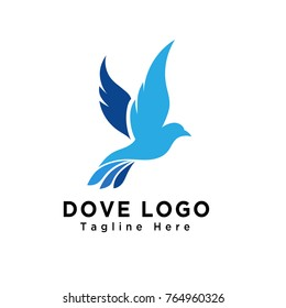 Flying bird dove logo