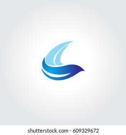 Flying Bird Icon Logo