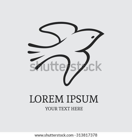 flying bird logo design vector template stock vector royalty free