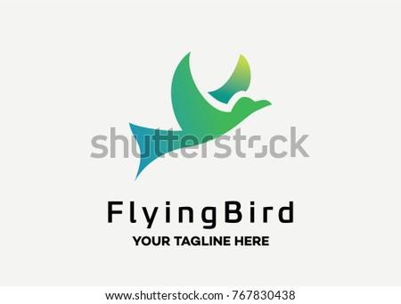 flying bird logo template design vector stock vector royalty free