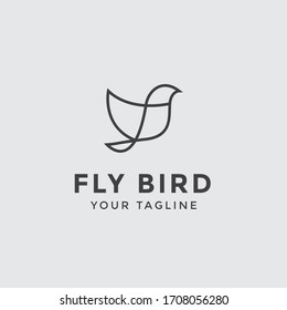 Flying Bird vector logo template