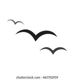 Flying birds icon