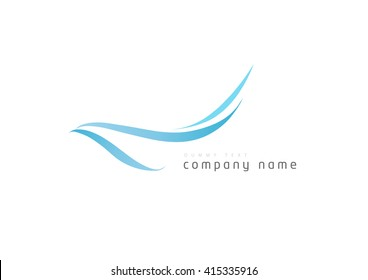 Flying Birds isolated, swoosh stylise, abstract birds, Airline template logo,  Tourism template logo