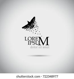 Flying birds logo. Vector