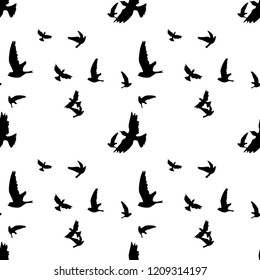 Flying birds seamless pattern vector design