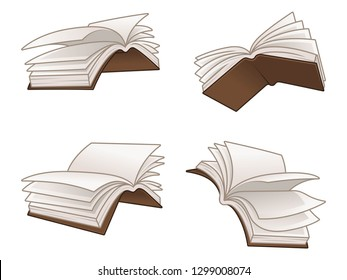Flying Books Vector Illustration Design Vector Illustration