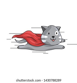 Flying Cat with Cape Character