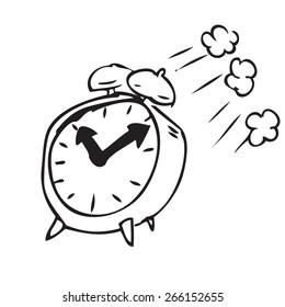 Flying Clock Doodle