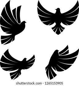 flying dove icon