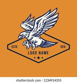 Flying Eagle Mascot Illustration