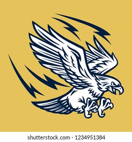 Flying Eagle Mascot Illustration