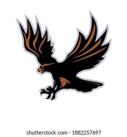 Flying eagle mascot logo template