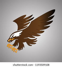 Flying eagle mascot. Vector.