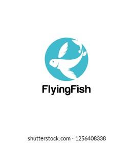 Flying Fish Logo Vector