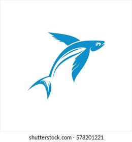 Flying Fish Vector Design