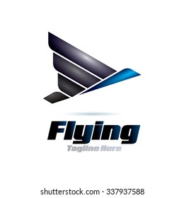 Flying Icon Logo Elements