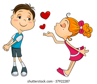 Flying Kiss Images, Stock Photos & Vectors | Shutterstock