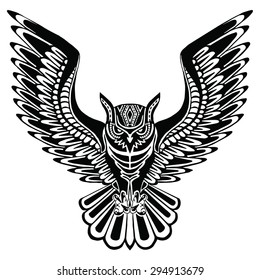 owl tattoo images stock photos vectors shutterstock rh shutterstock com flying owl tattoo stencil owl flying tattoo designs