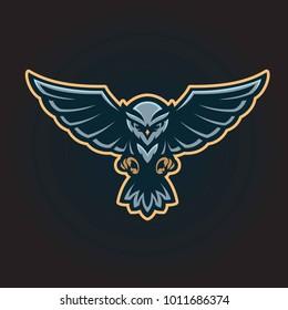 Flying owl logo mascot
