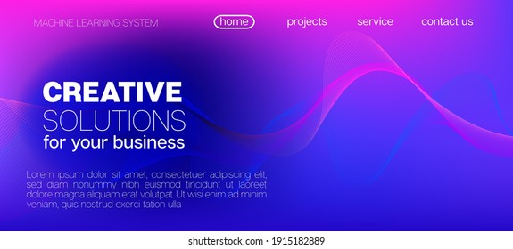 Flying Particles Distressed Purple Vector. Pink Blue Purple Futuristic Gradient Overlay. 3D Flow Shapes Layout. Big Data Neon Background. Abstract Geometric Background. Data Stream Minimal Banner.
