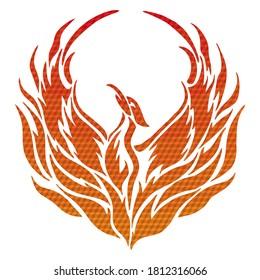 Flying Phoenix Fire Bird Abstract Logo Design Vector Template..Phoenix Rising Wings Logo Design