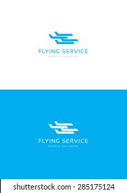 Flying service logo tamplate.
