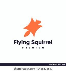 flying squirrel logo simple design