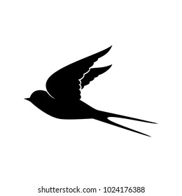 flying swallow silhouettw