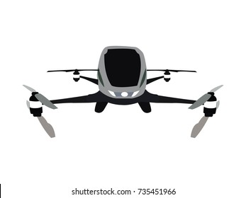 Flying taxi drone for two persons.