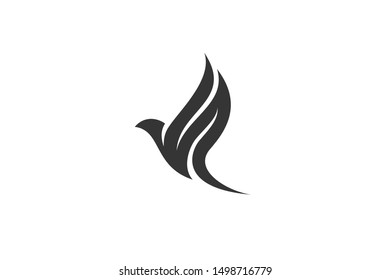 Flying Wings Bird Logo abstract design vector template