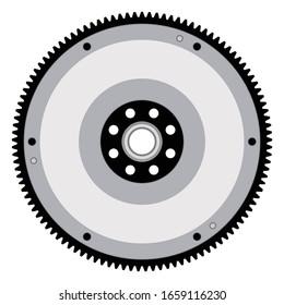 Flywheel. Car transmission parts. Vector illustration