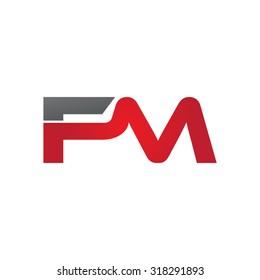 FM company group linked letter logo
