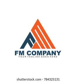 FM letter logo design