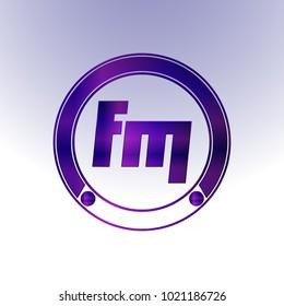 FM Logo, Metal Logo, purple Logo, Monogram,