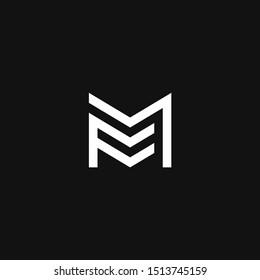 FM Logo monogram modern design template