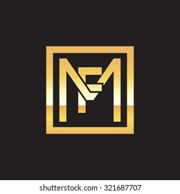 FM MF initial company, golden square frame