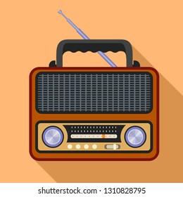 Fm radio icon. Flat illustration of fm radio vector icon for web design