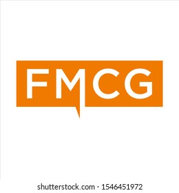 FMCG acronym. Letters logo. Fast moving consumer goods business concept FMCG LOGO