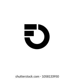 fo letter brand logo vector