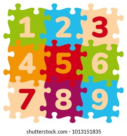 Foam Baby Kids Play Mat Number Puzzle