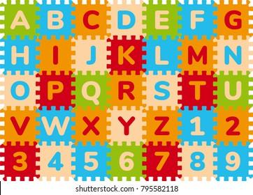 Foam Baby Kids Play Mat Alphabet Number Puzzle