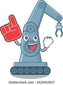 Foam finger toy mechatronic robot arm cartoon shape