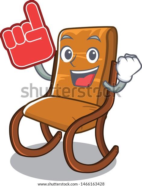 Excellent Foam Finger Toy Rocking Chair Above Stock Vector Royalty Uwap Interior Chair Design Uwaporg