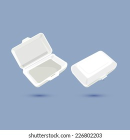 foam lunch box - vector ilustration