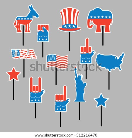 foam sign president election america set のベクター画像素材