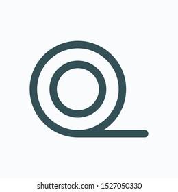 Foam underlayment isolated icon, laminate foam underlayment linear linear vector icon